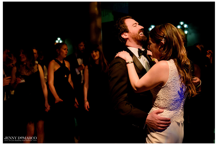 the newlyweds dance the night away