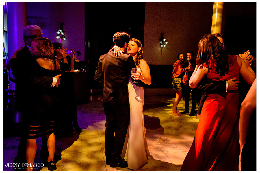 the couple shares their last dance at the Driskill hotel