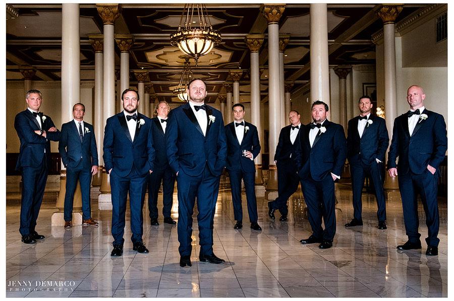 Full groom party shot.