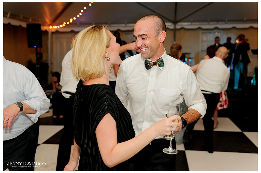 Guests grab their partner and dance the night away.