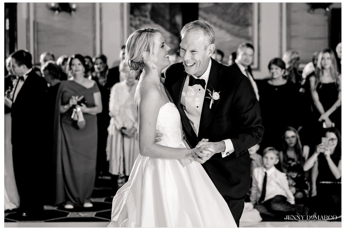 A sweet moment from the father daughter dance.