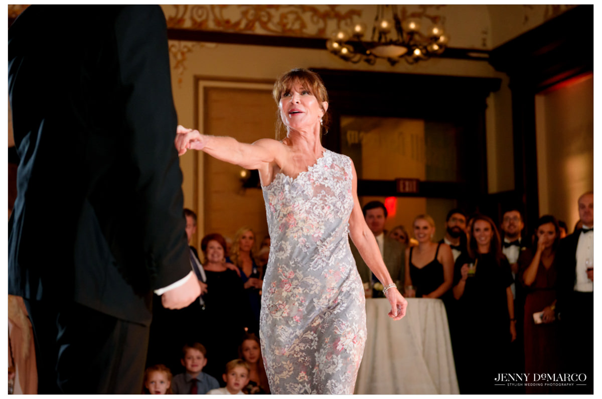 A sweet moment from the mother son dance.