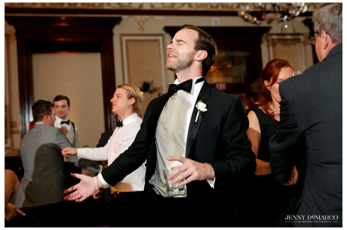 Guests start to join the dance floor.