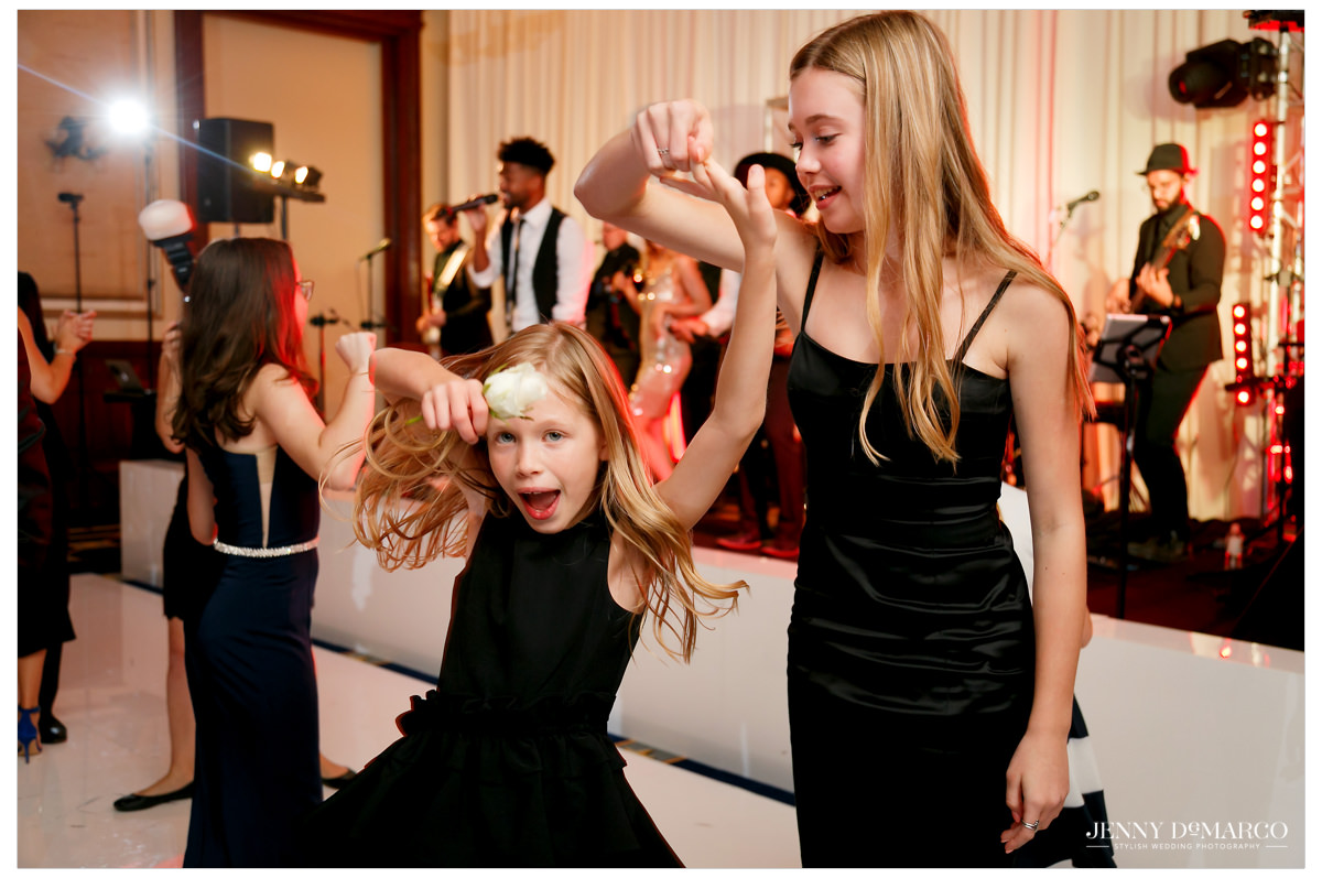Guests of all ages enjoy the music and dance along.