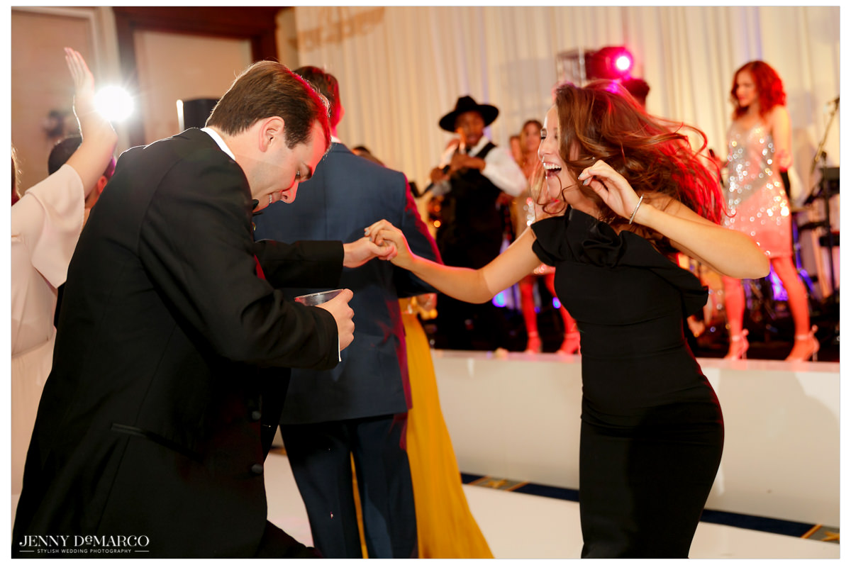 Guests take the dance floor by storm.