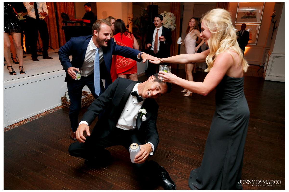 Guests start to break it down on the dance floor.