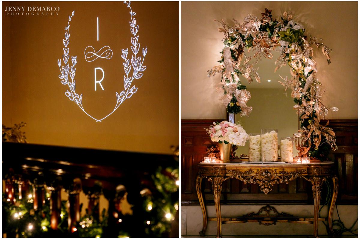 Detail photos of the reception decor.