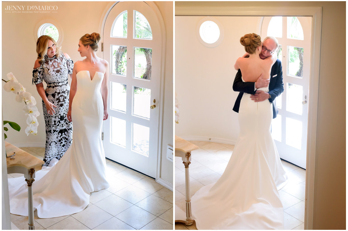 Bride presents herself to her mother and father.