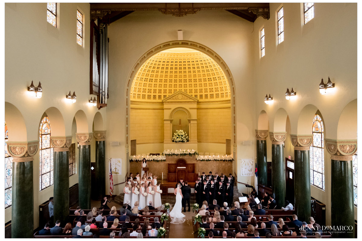 wide angle shot of the ceremony.