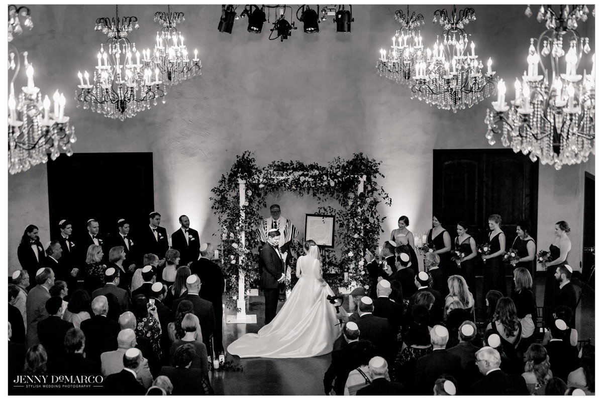 Wide angle shot of the wedding ceremony.