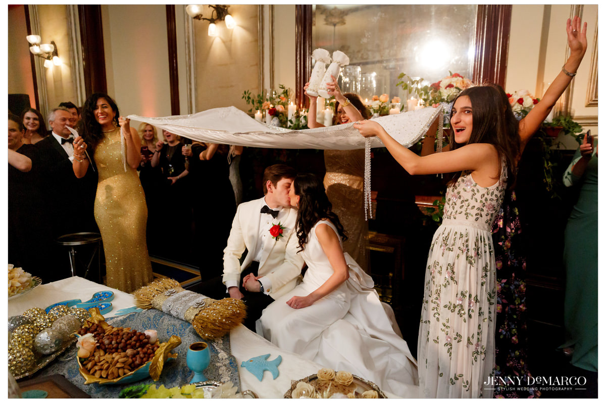 The couple celebrates with a Persian tradition.