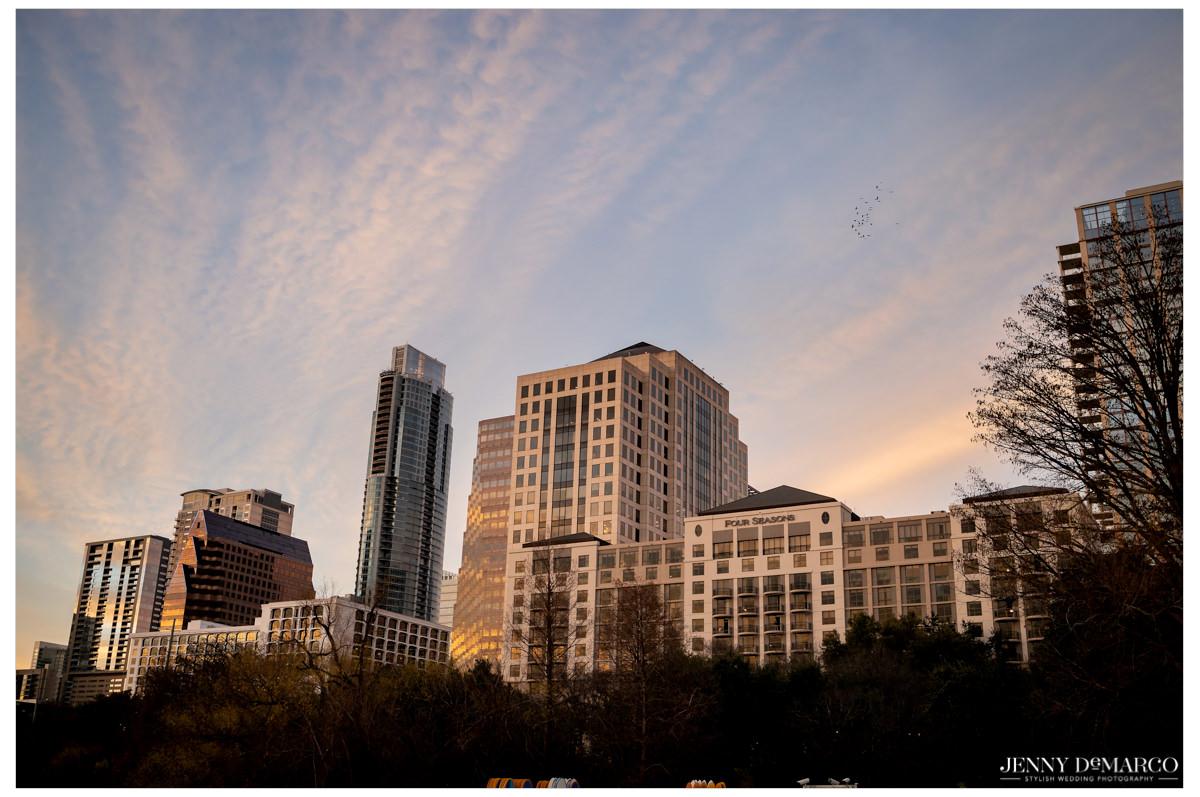 Downtown Austin setting.