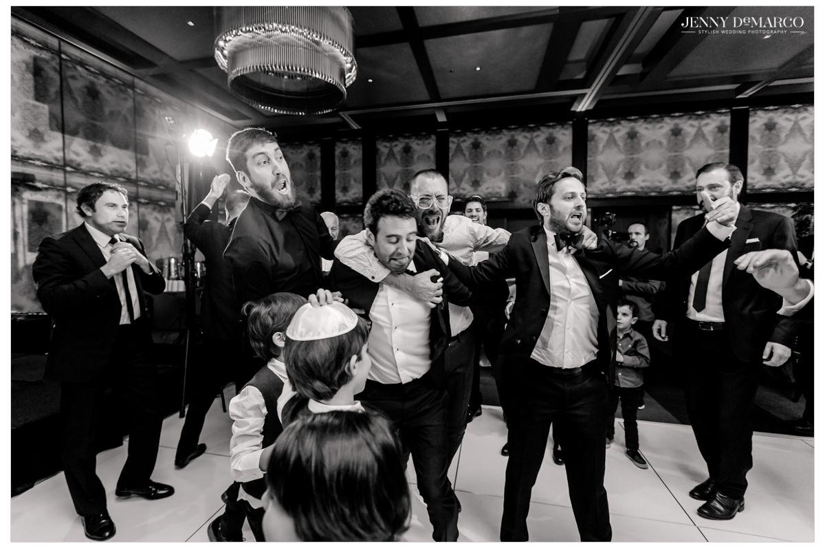 Guests hit the dance floor.