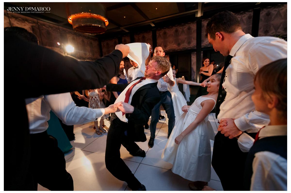 Limbo breaks out on the dance floor.
