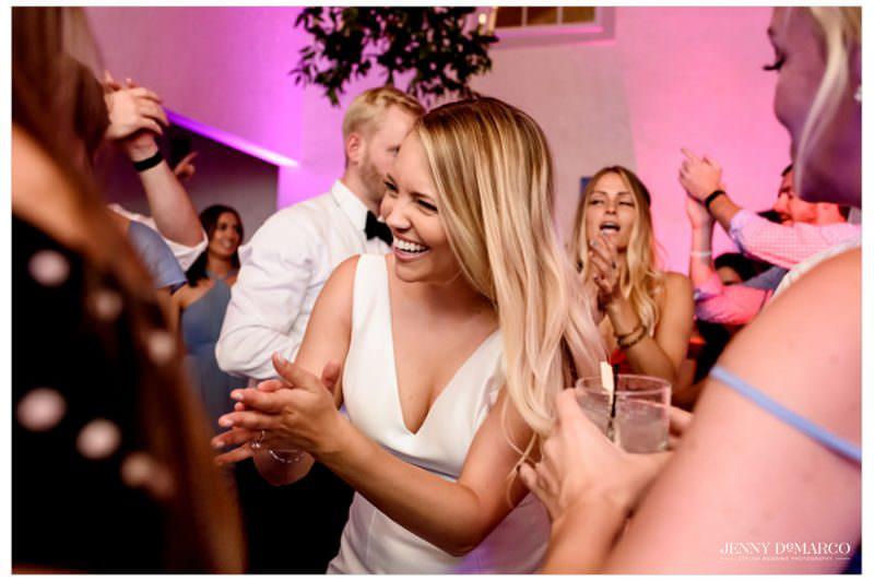 bride dancing at the wedding reception