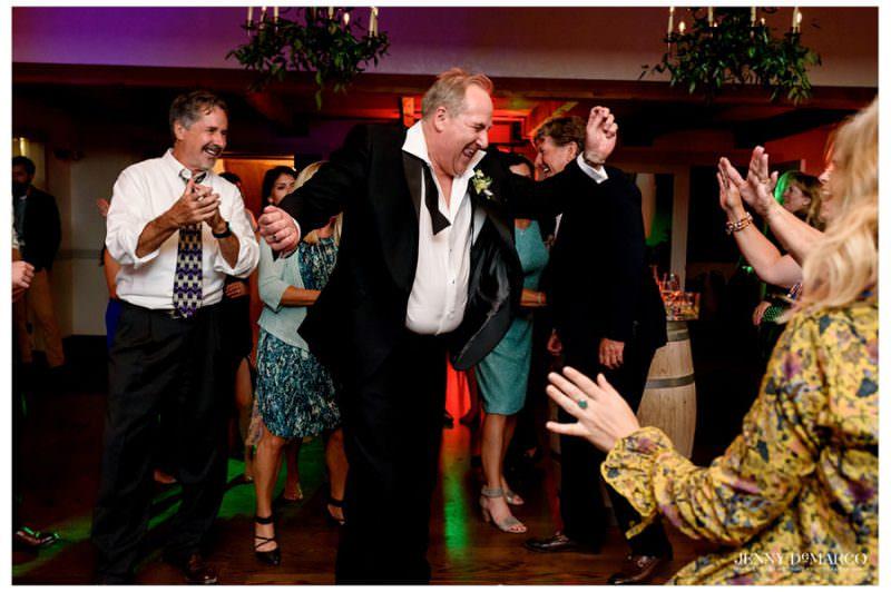 groomsmen enjoying the wedding reception