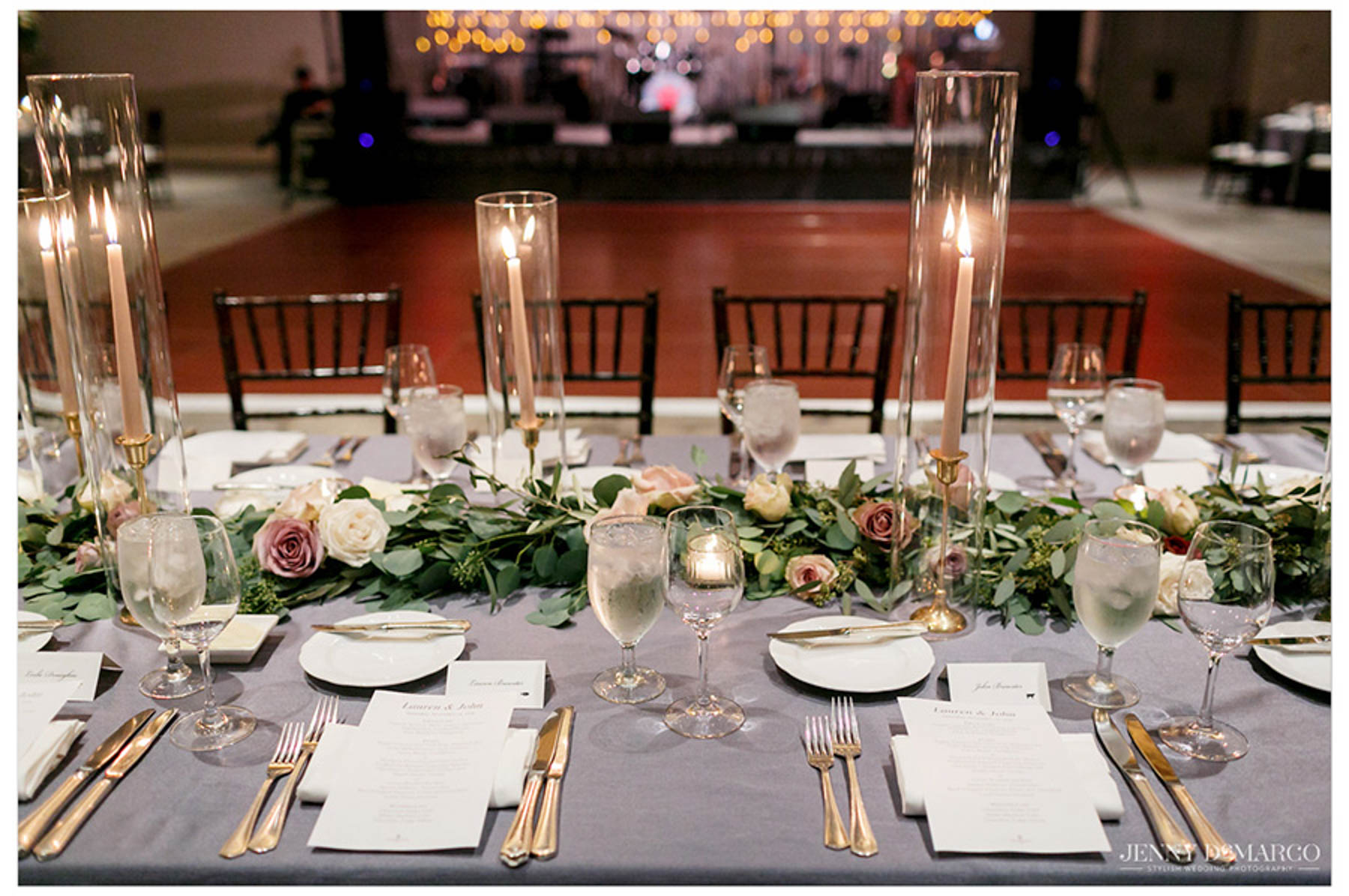 candle-lit table settings