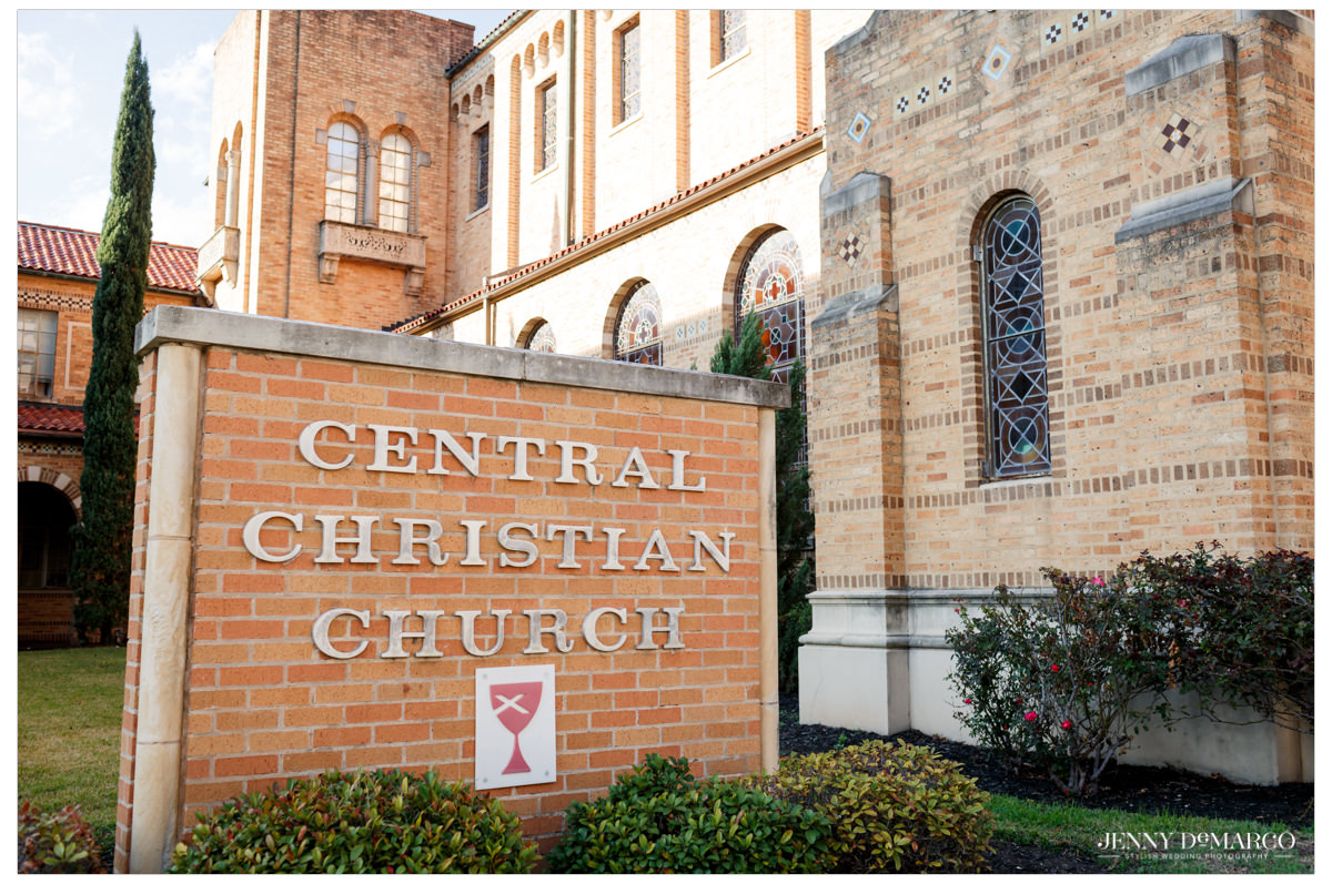 Central christian church was the ceremony venue for the wedding