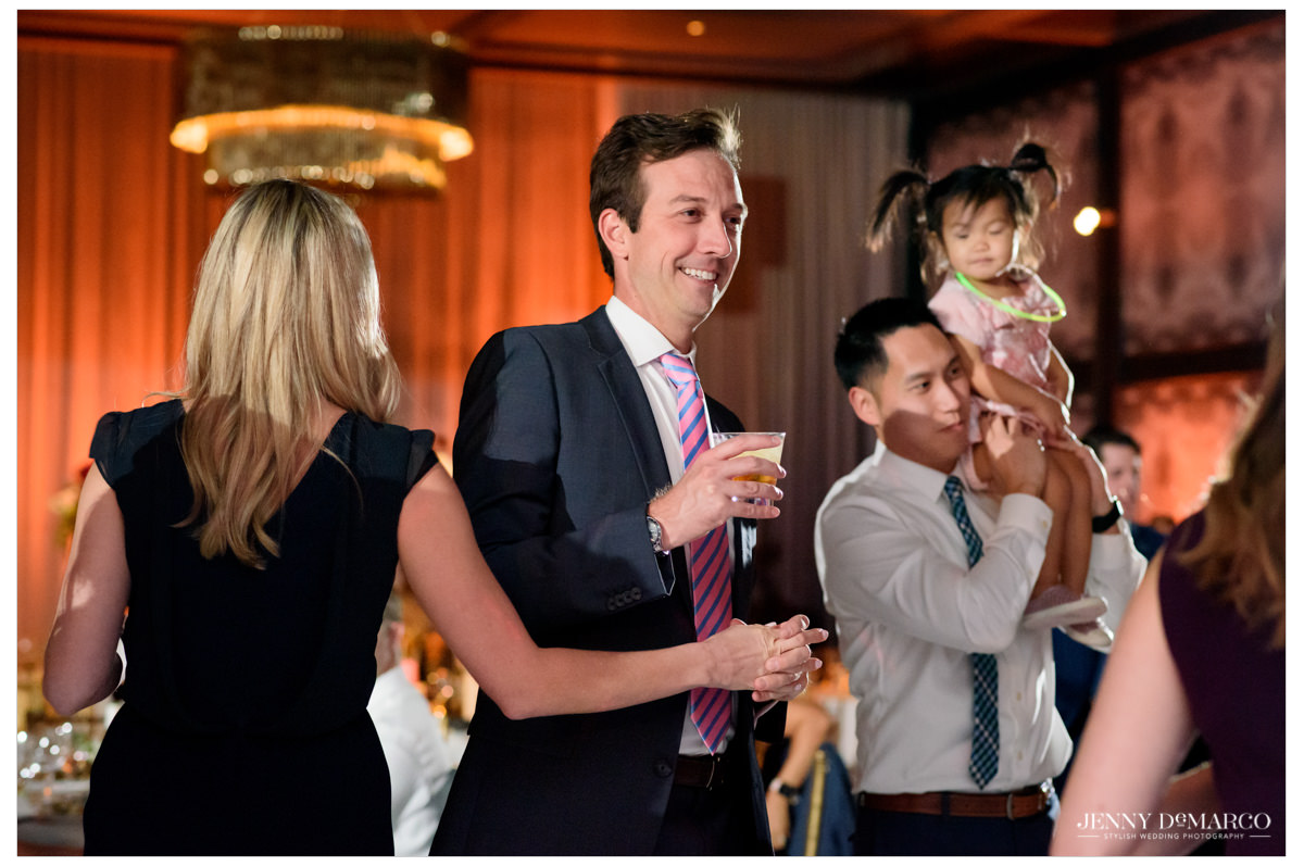 guests celebrating during the reception