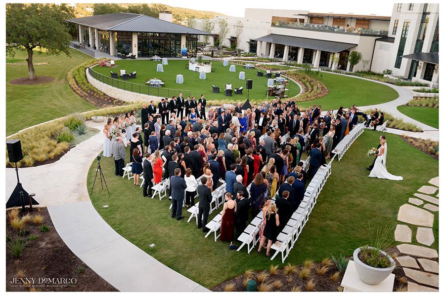 The venue of the ceremony in Omni Barton Creek Resort.