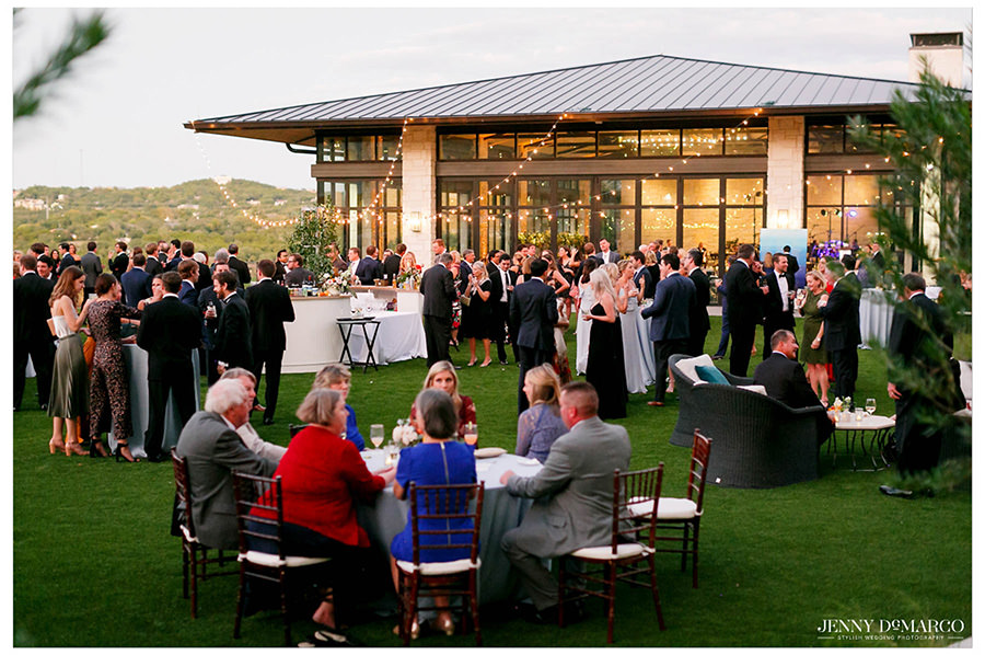 Wide view of the reception.