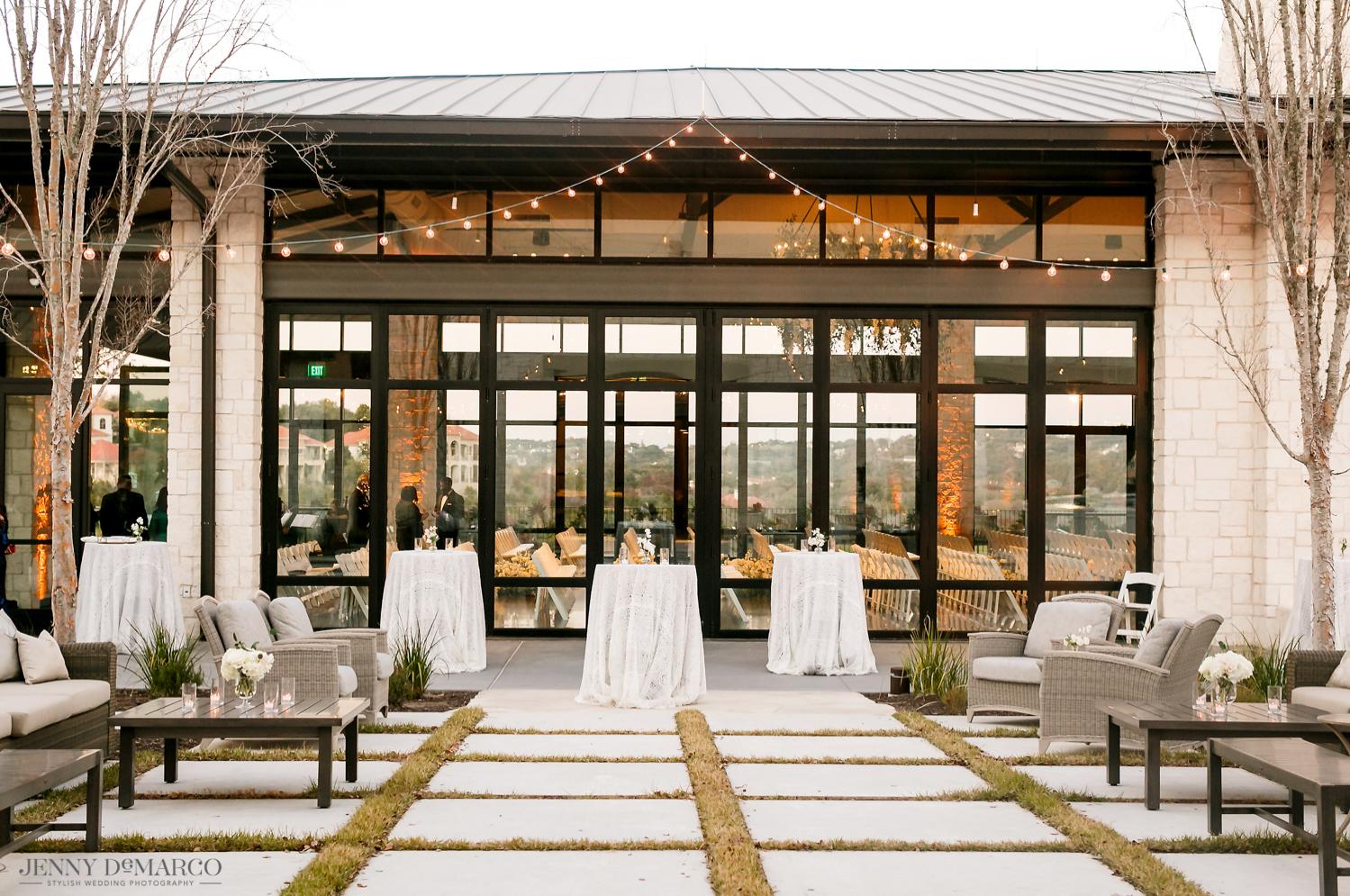 Omni Barton Creek outside wedding reception