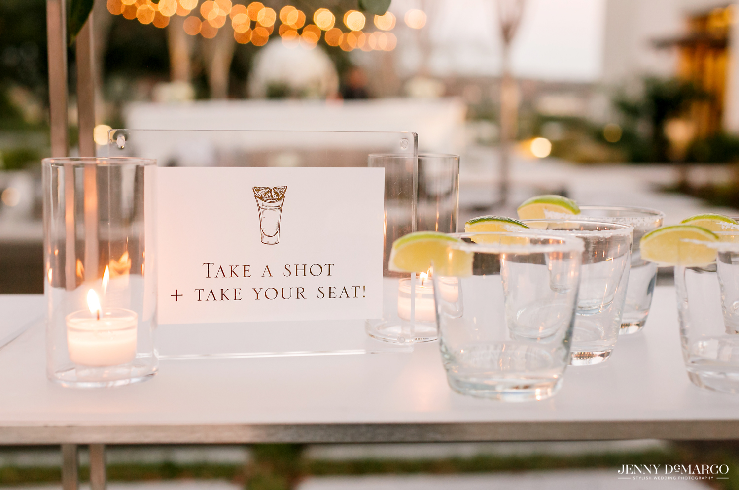 take a shot or take your seat shot bar sign and glasses