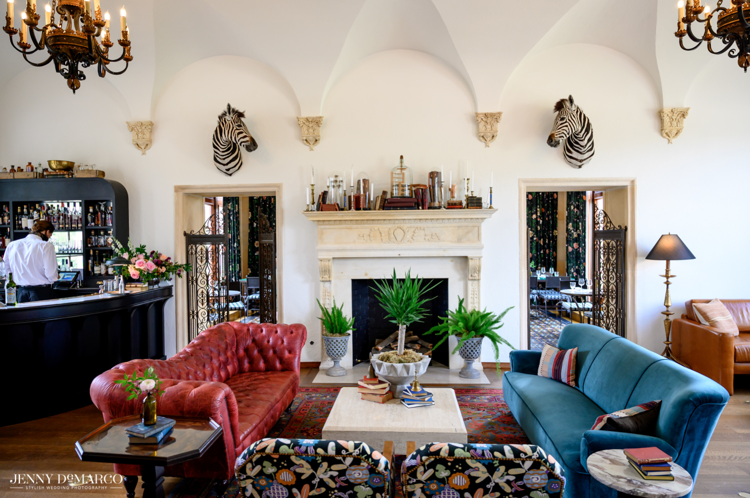 mansion living room in the Commodore Perry hotel