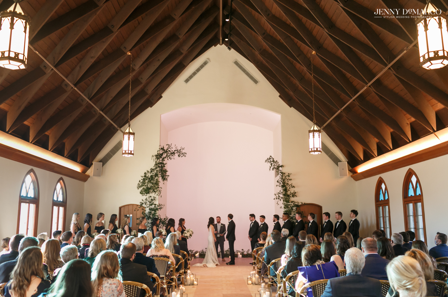 wedding ceremony at the commodore perry hotel in Austin, Texas