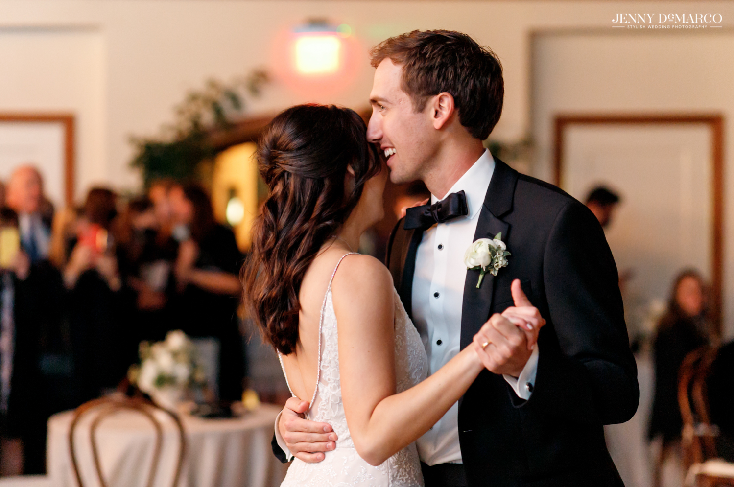 bride and groom's first dance together