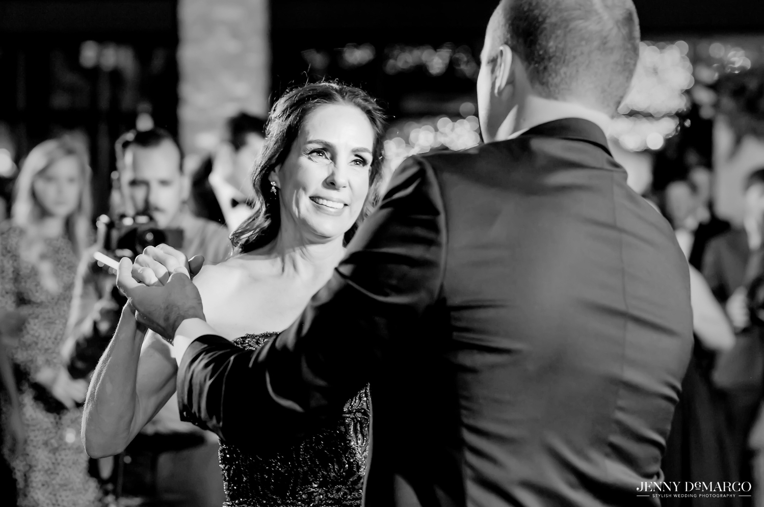 Mother, son dance with groom
