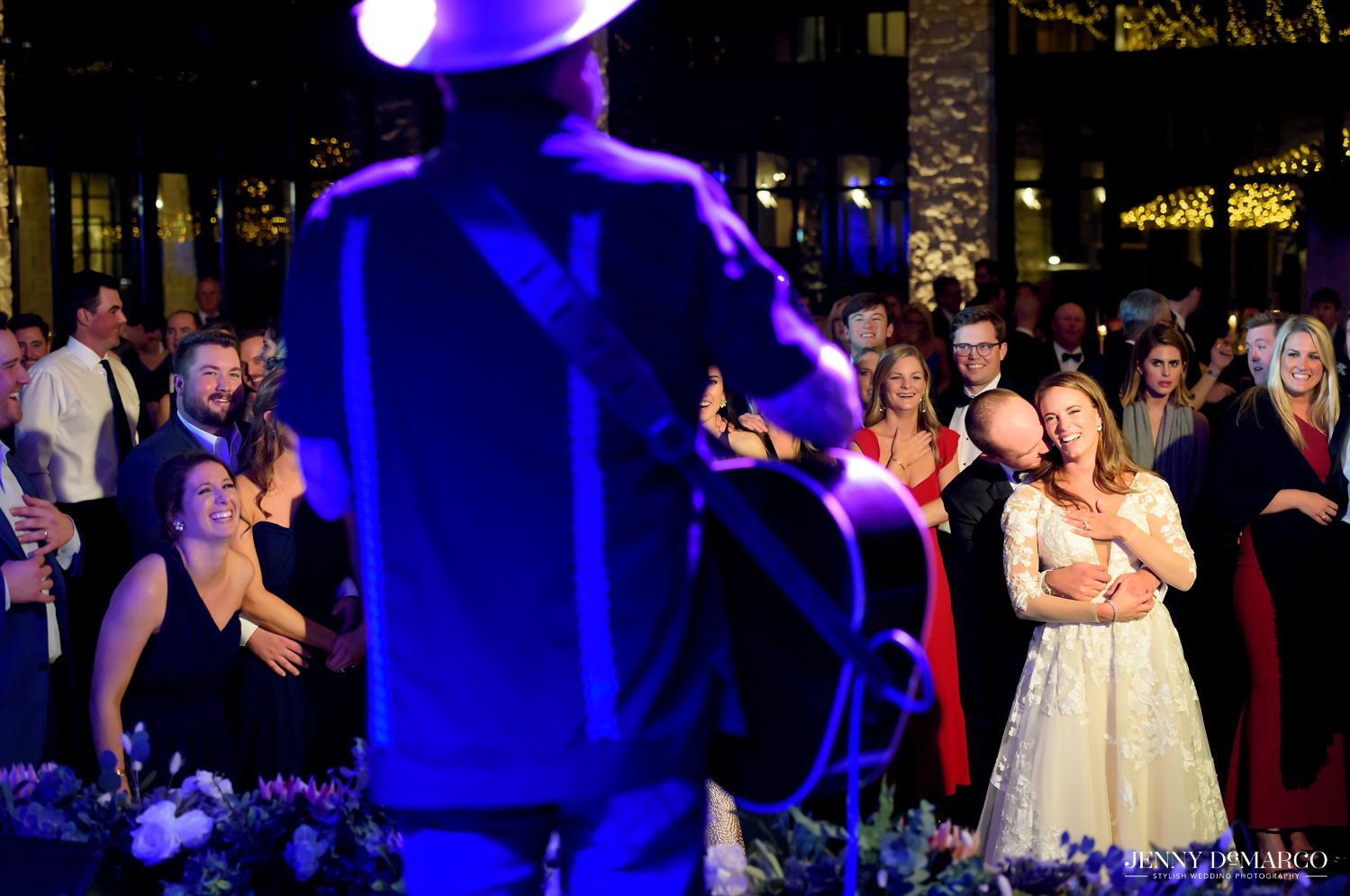Bride and Groom dance to wedding singer