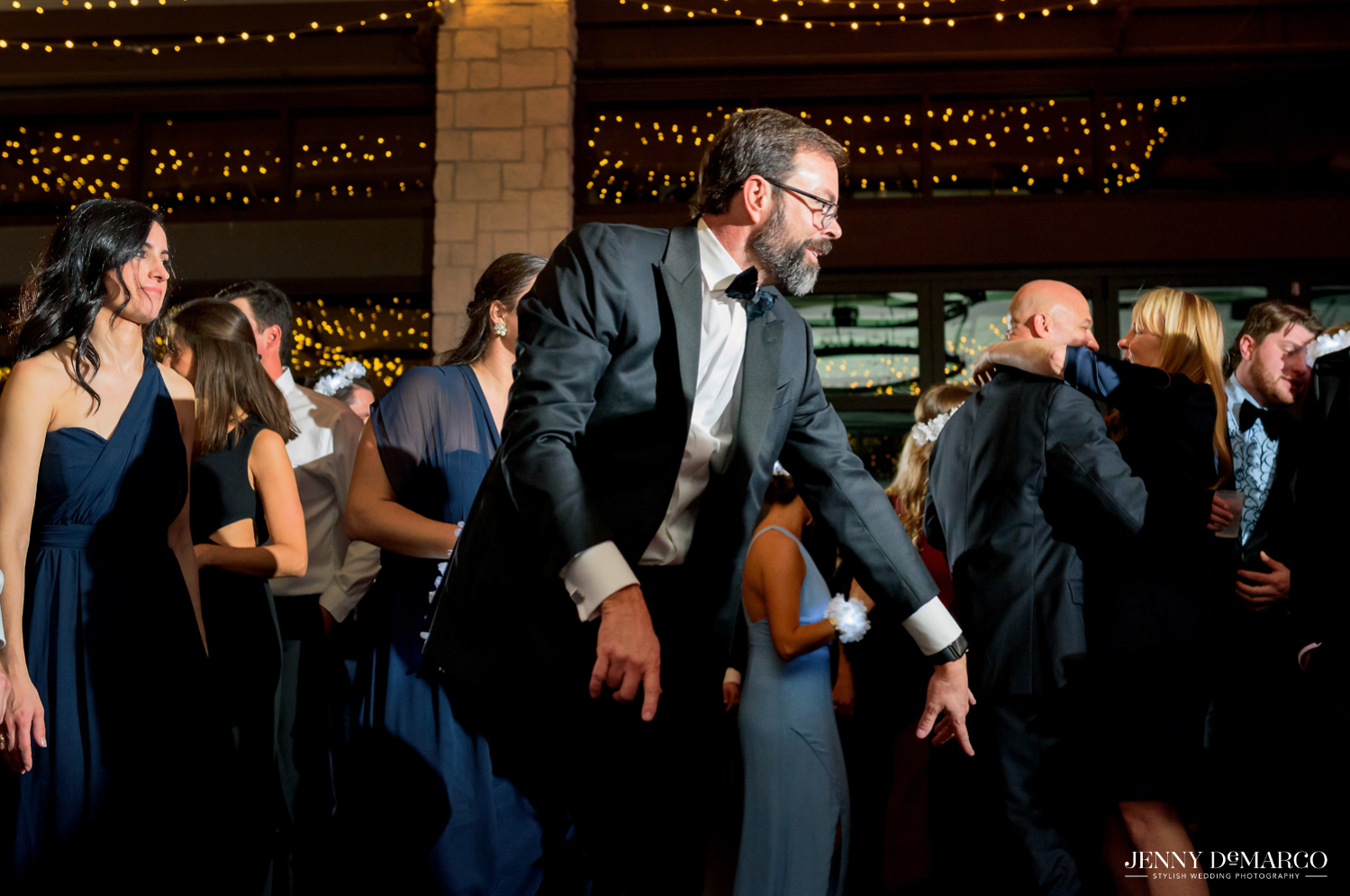Father of bride dancing on dance floor