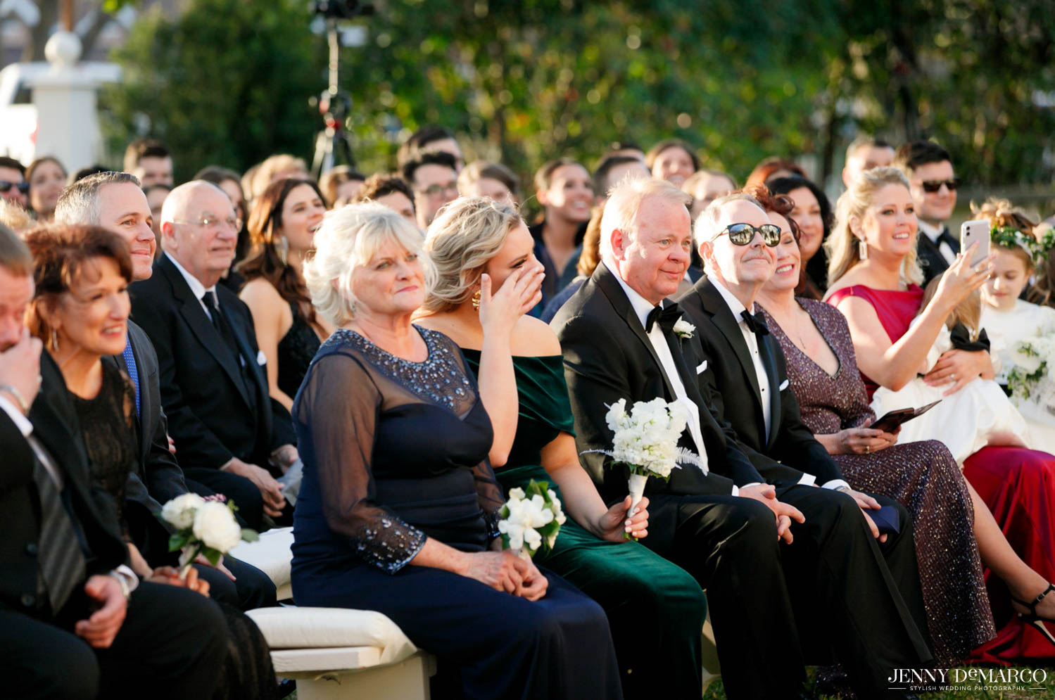 guests becoming emotional during ceremony